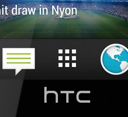 Close-up van de iconen op de HTC One
